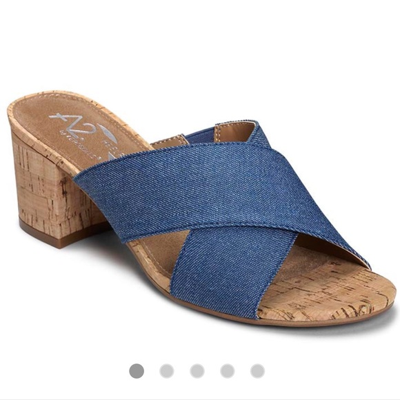 8a17799a1e5 NWT NEW Aerosoles denim sandals 👡 shoe 👠 7.5 M